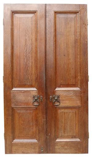 A Set of Reclaimed Victorian Style Oak Exterior Doors