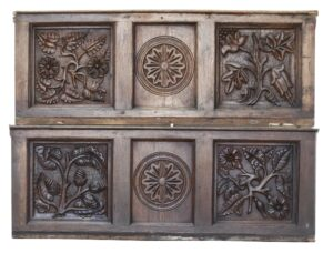 Pair of 18th / 19th Century Carved Oak Wall Panels