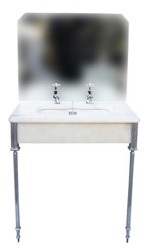 Art Deco Basin with Mirror