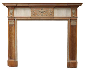 An Antique Georgian Neoclassical Style Fireplace