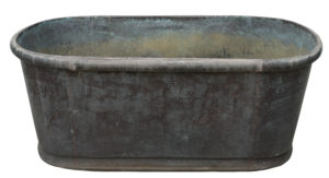 A Rustic Antique Copper Bathtub