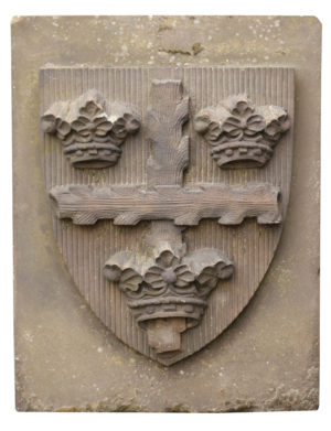 A Large Carved Stone Crest or Coat of Arms