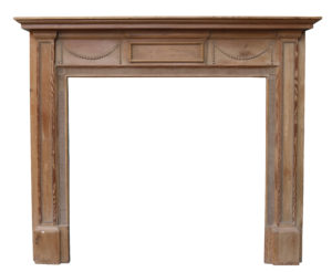 A Reclaimed Georgian Style Pine and Composition Fire Surround