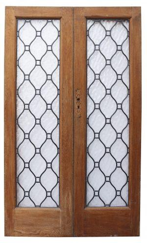 A Set of Reclaimed Glazed Oak Doors