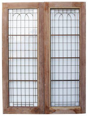 Reclaimed Art Deco Copper-Light Double Doors