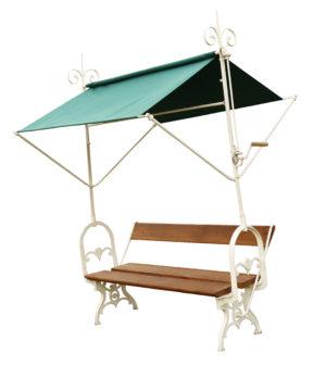 An Antique Italian Garden Bench with Canopy