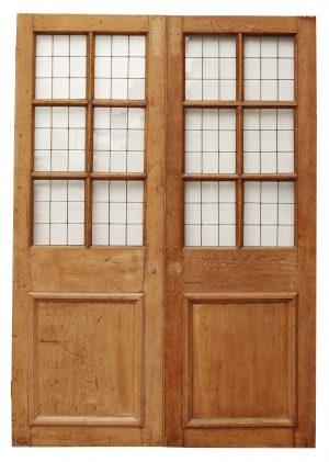 Art Deco Style Reclaimed Copper Light Double Doors