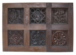 A Reclaimed Carved Oak Wall Panel in the Jacobean Style