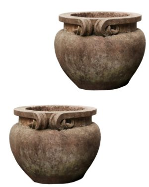 A Pair of Compton Style Stone Planters