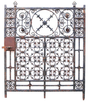 A Reclaimed Georgian Style Wrought and Cast Iron Side Gate