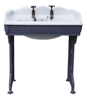 Victorian Porcelain Sink with Cast Iron Stand