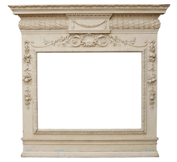 French Carved Pine Overmantel