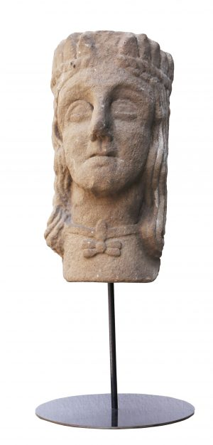 An English Medieval Carved Stone Head
