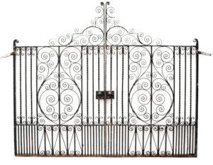 Victorian Style Wrought Iron Driveway Gates