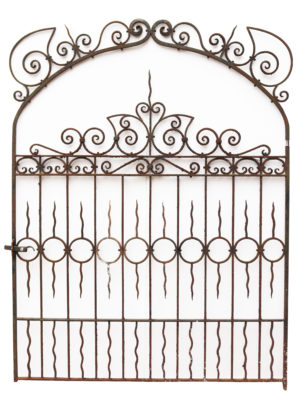 Wide Antique Wrought Iron Gate in the Victorian Style