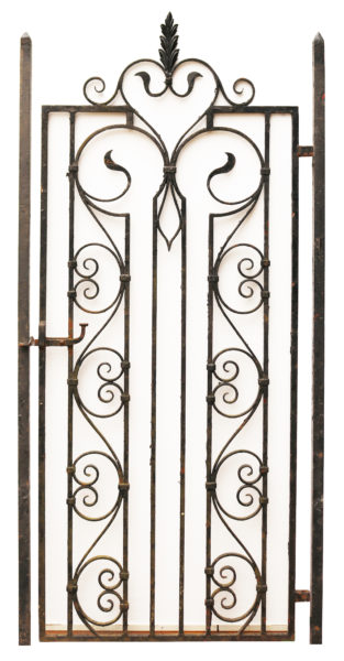 Tall Victorian Style Wrought Iron Gate with Posts