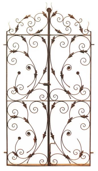 Victorian Pair of Wrought Iron Pedestrian Gates