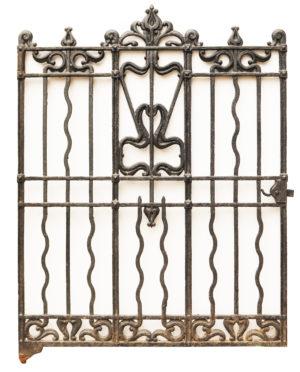Art Nouveau Cast Iron Gate