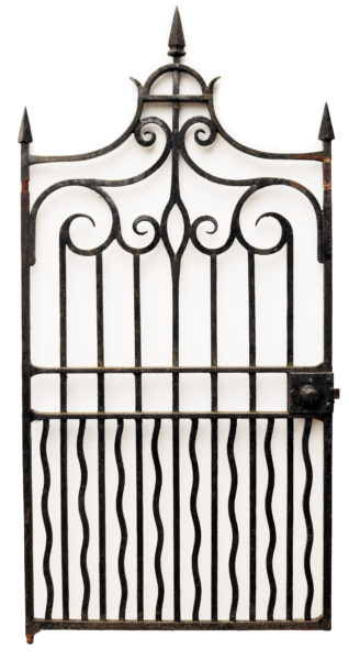 Antique Tall Wrought Iron Pedestrian Gate