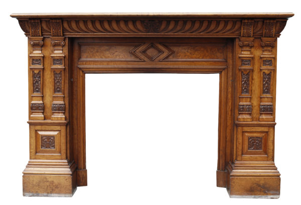 Antique Hobbs and Co. Fine Quality Oak Fireplace