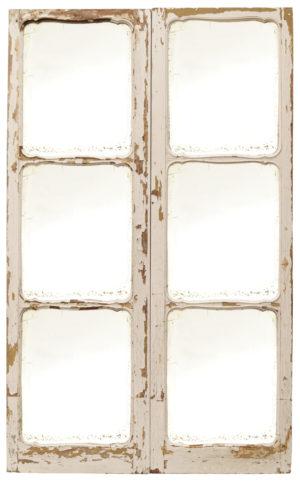 Pair of Antique Mirrored Oak Doors