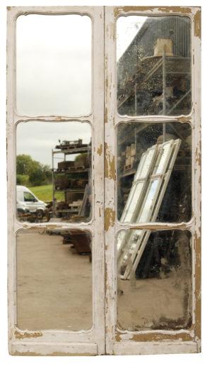 Set of Antique Mirrored Oak Doors