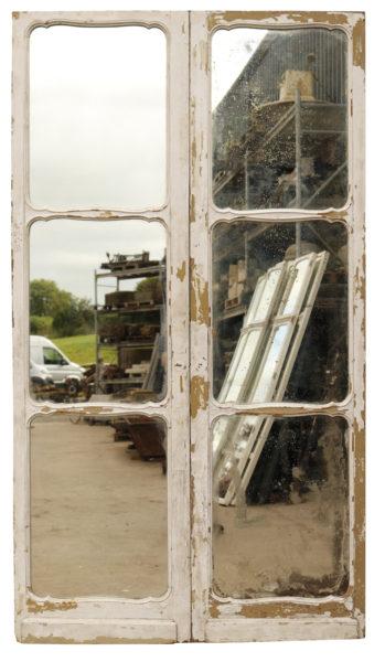 Pair of Mirrored Oak Doors