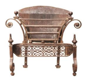 Antique Georgian Wrought Iron Fire Grate