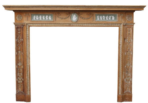 Georgian Neo-Classical Fireplace with Wedgwood Plaques