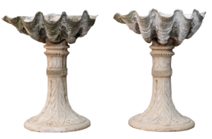 Victorian Clam Shell Planters