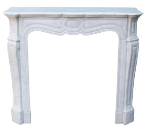 19th Century Louis XV Style Marble Fireplace