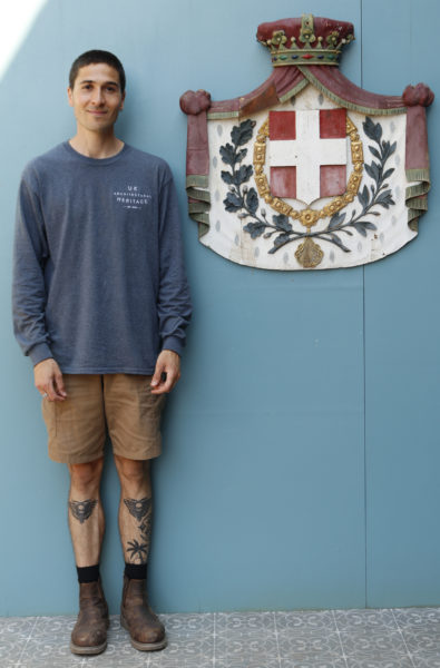 Wooden Italian Coat of Arms