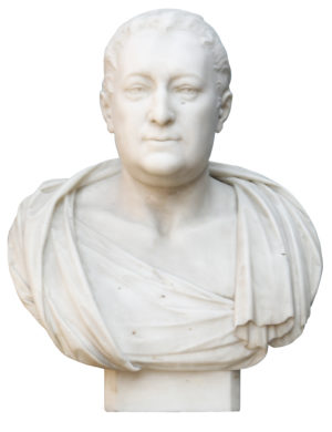 Marble Portrait Bust of Edward Willes by John Bacon