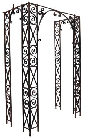 Georgian Wrought Iron Porch Frame
