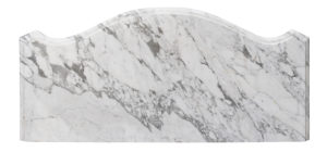 Shaped Antique Carrara Marble Table Top