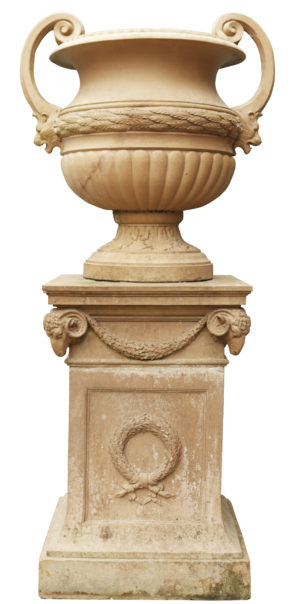 Neoclassical Style Doulton Urn on Pedestal