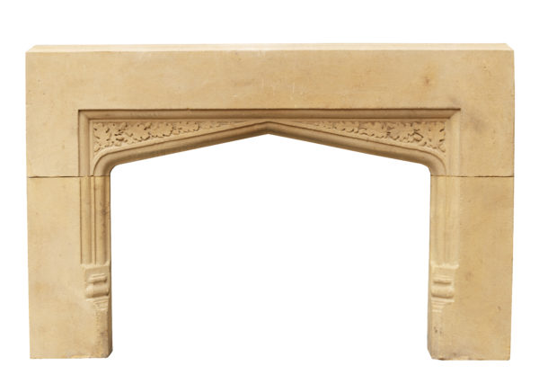 Late Victorian Carved Limestone Fire Surround