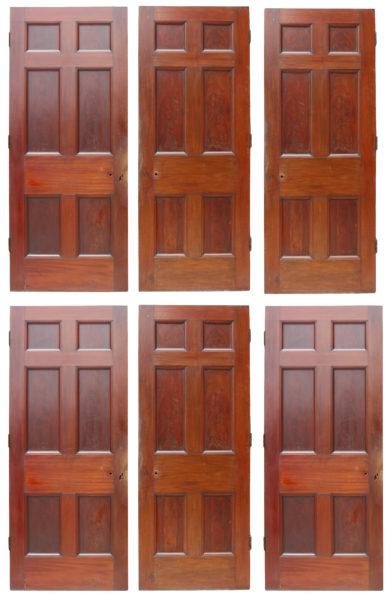 Six Georgian Mahogany Doors