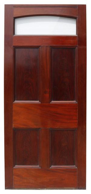 Victorian Mahogany Door With Glass