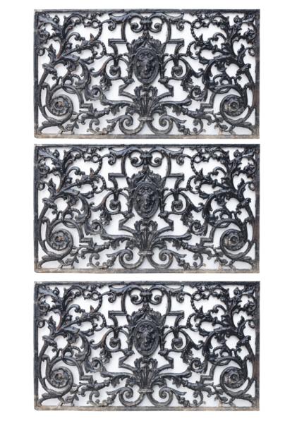 Three Cast Metal Plaques