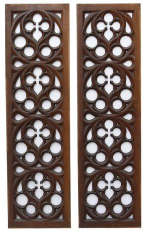 Antique Victorian Carved Oak Panels