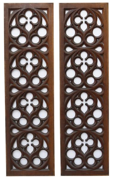 Victorian Carved Oak Panels