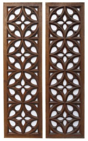 Antique Carved Oak Church Panels