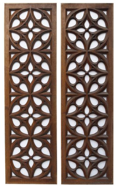 Antique Carved Oak Panels