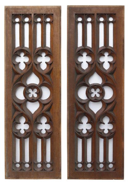 Rectangular Antique Carved Oak Panels