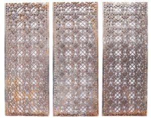 Reclaimed Cast Iron Church Floor Grills (7 Pieces)