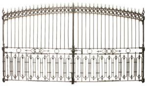 Set of Antique Wrought Iron Driveway Gates 400 cm (13′ 2″)