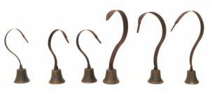 Six Antique Georgian Servants Bells