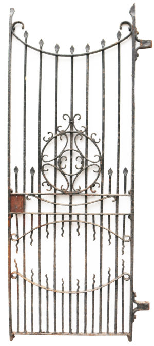 Tall Victorian Antique Wrought Iron Gate