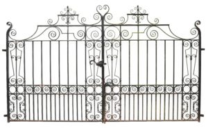 Set of Reclaimed Wrought Iron Driveway Gates 3.2m